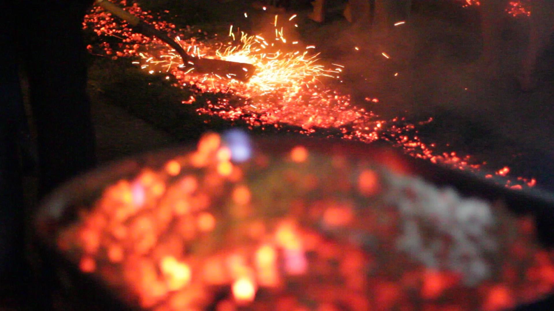 Firewalk on hot coals
